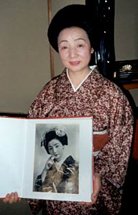 Photograph of Geisha advisor in Japan